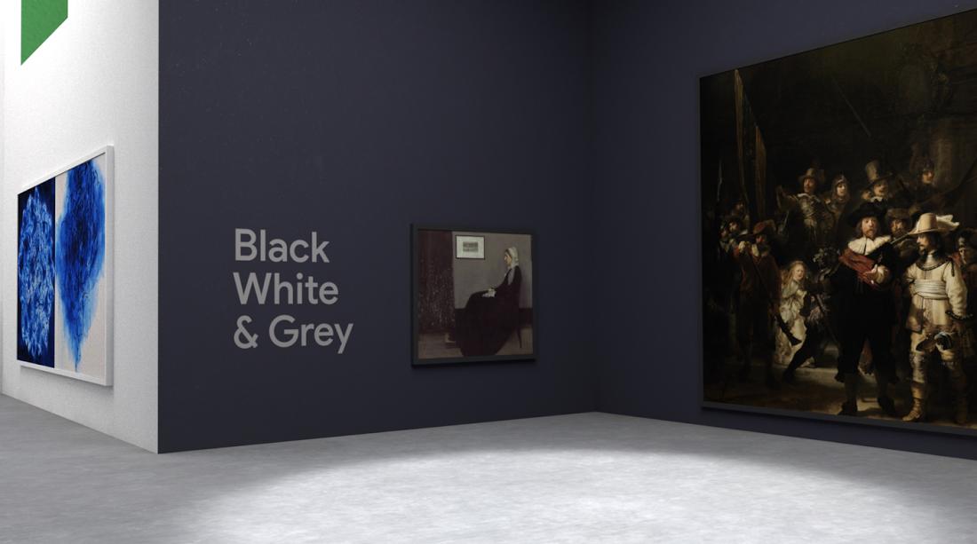 Google открыл виртуальную галерею. Картины в ней размещены по цветам