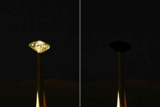 Ученые случайно создали самый черный материал в мире