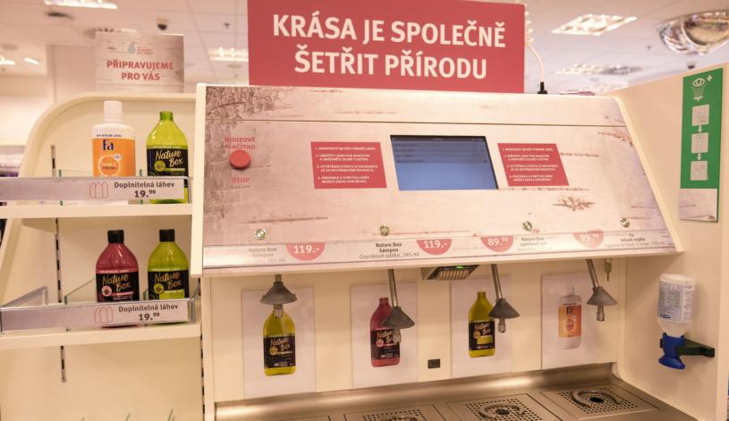 В Чехии начали продавать разливные шампуни и гели для душа