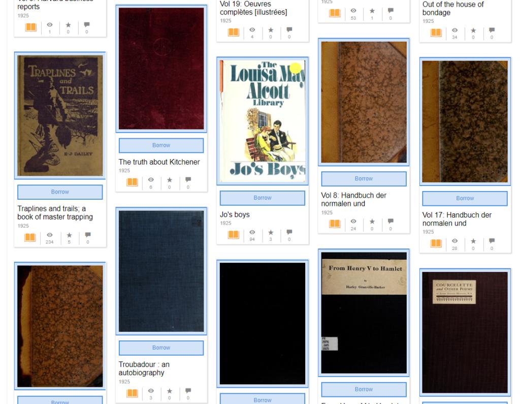 Организация «Архив Интернета» выложила в открытый доступ более одного миллиона бесплатных электронных книг
