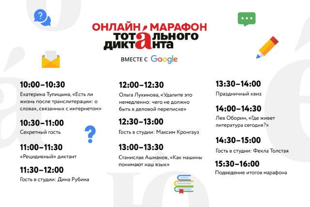 Google и «Тотальный диктант» проведут онлайн-марафон. Его гостями станут Фекла Толстая, Дина Рубина и Максим Кронгауз