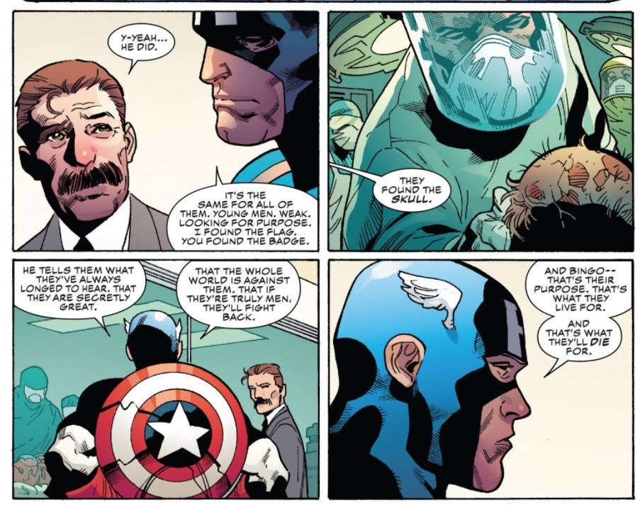 Идеи из книги психолога Джордана Питерсона спародировали в комиксе о Капитане Америке — их приписали злодею